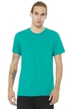 BELLACANVAS Unisex Jersey Short Sleeve Tee Teal Thumbnail