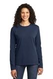 WMC Perinatal Women's Long Sleeve 5.4-oz 100 Cotton T-shirt Navy Thumbnail