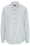 Women's Poplin Shirt LS White Thumbnail