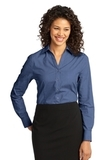Women's Crosshatch Easy Care Shirt Deep Blue Thumbnail
