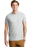 Ultra Blend 50/50 Cotton / Poly T-shirt With Pocket Ash Grey Thumbnail