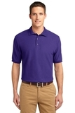 Extended Size Silk Touch Polo Shirt Purple Thumbnail