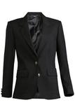 Women's Single Breasted Blazer Black Thumbnail