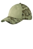 Colorblock Digital Ripstop Camouflage Cap Green Camo with Green Thumbnail