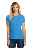 Women's Made Perfect Blend Crew Tee Heathered Bright Turquoise Thumbnail
