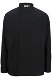 Long Sleeve Double Breasted Server Shirt Black Thumbnail