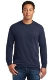 Heavy Cotton 100 Cotton Long Sleeve T-shirt Navy Thumbnail