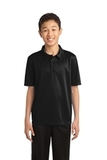Youth Silk Touch Performance Polo Black Thumbnail