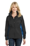 Women's Core Colorblock Wind Jacket Black with Imperial Blue Thumbnail