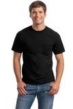 Ultra Cotton 100 Cotton T-shirt With Pocket Black Thumbnail