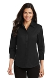 Women's 3/4-sleeve Easy Care Shirt Black Thumbnail