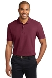 Tall Stain-resistant Polo Shirt Burgundy Thumbnail