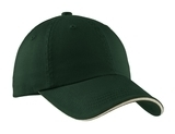 Sandwich Bill Cap With Striped Closure Hunter with Stone Thumbnail