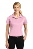 Women's Micropique Moisture Wicking Polo Shirt Light Pink Thumbnail