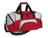 Improved Colorblock Small Sport Duffel Red with Grey Thumbnail