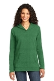 Women's French Terry Pullover Hooded Sweatshirt Heather Green Thumbnail