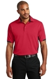 Dry Zone Colorblock Ottoman Polo Shirt Engine Red with Black Thumbnail