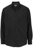 Men's Easy Care Poplin Shirt LS Black Thumbnail