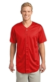 Posicharge Tough Mesh Full-button Jersey True Red Thumbnail