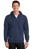 Full-zip Hooded Sweatshirt Navy Thumbnail