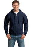 Full-zip Hooded Sweatshirt Navy Thumbnail
