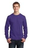 Long Sleeve 5.4-oz. 100 Cotton T-shirt Purple Thumbnail