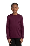 Youth Long Sleeve Competitor Tee Maroon Thumbnail