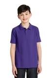 Youth Silk Touch Polo Shirt Purple Thumbnail