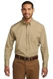 Port Authority Long Sleeve Carefree Poplin Shirt Wheat Thumbnail