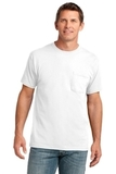 5.4-oz 100 Cotton Pocket T-shirt White Thumbnail