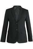 Redwood & Ross Signature Ladies Single Breasted Poly/wool Suit Coat Black Thumbnail