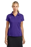 Women's Nike Golf Shirt Dri-FIT Sport Swoosh Pique Polo Court Purple Thumbnail