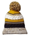 Pom Pom Team Beanie True Navy with Gold and White Thumbnail