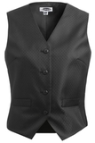 Women's Diamond Brocade Vest Black Thumbnail