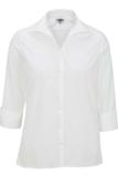 Women's Easy Care Poplin Shirt 3/4 Sleeve White Thumbnail