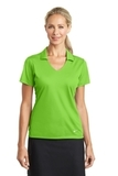 Women's Nike Golf Dri-FIT Vertical Mesh Polo Action Green Thumbnail