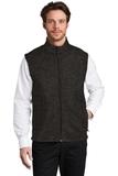 Sweater Fleece Vest Black Heather Thumbnail