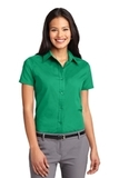 Women's Short Sleeve Easy Care Shirt Court Green Thumbnail