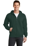 7.8-oz Full-zip Hooded Sweatshirt Dark Green Thumbnail
