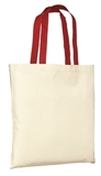 Budget Tote Natural with Red Thumbnail