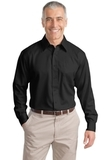 Tall Long Sleeve Non-iron Twill Shirt Black Thumbnail