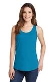 Women's 5.4 oz. 100 Cotton Tank Top Neon Blue Thumbnail