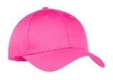 6-panel Twill Cap Neon Pink Thumbnail