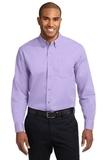 Long Sleeve Easy Care Shirt Bright Lavender Thumbnail