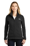 Women's The North Face Sweater Fleece Jacket TNF Black Heather Thumbnail