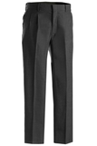 Men's 70/30 Poly / Wool Pleated Pant Charcoal Thumbnail