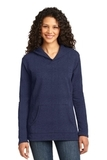 Women's French Terry Pullover Hooded Sweatshirt Heather Blue Thumbnail