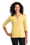 Ladies UV Choice Pique Henley Sunbeam Yellow Thumbnail