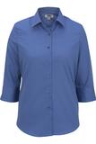 Women's 3/4 Sleeve Poplin Shirt French Blue Thumbnail