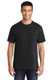 50/50 Cotton / Poly T-shirt With Pocket Jet Black Thumbnail